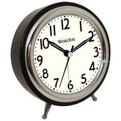 Classic Retro Alarm Clock with Chrome Bezel - WESTCLOX - 75032