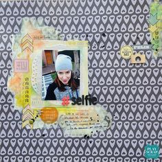 a sketch layout Selfies, Scrapbook Layouts, Scrapbooking, Sketch, Frame, Home Decor, Colors, Sketch Drawing, Homemade Home Decor