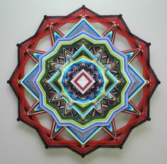 Love Conquers All, a 24 inch, 12-sided, Ojo de Dios, IN STOCK, ready to ship