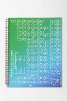 Periodic Table Spiral Notebook - Urban Outfitters