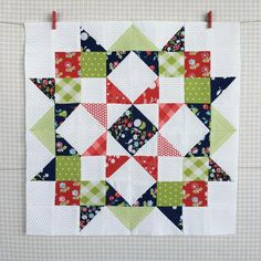 Mini quilt: Carried Away Quilting sews a mini Moda Love quilt using Vintage Picnic and Little Ruby by Bonnie and Camille for Moda.