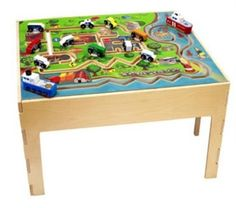 city transportation activity play table