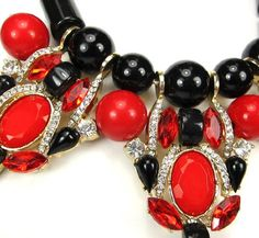 New Fashion Elegant Gorgeous Colorful Beaded Crystal Rhinestones Statement Necklace by shopluvmeTake for me to see New Fa
