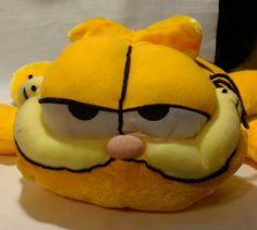 "Plush Stuffed Animal Toy GARFIELD Fat Lazy Cat Orange EUC 14"" Nanco Cartoon #nanco"