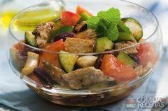 Receita de Salada grega com sardinha em receitas de saladas, veja essa e outras…