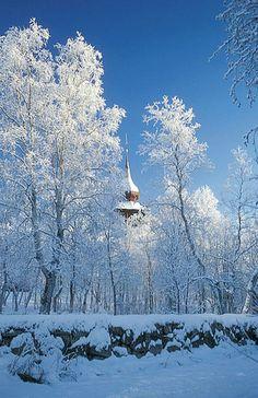Kirche im Winter KIRUNA #Sweden #Church #Winter