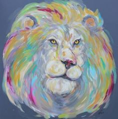 Bravery Comes in Many Form, Lion Painting.  Commission your own unique work of art. Find me on instagram or Facebook to chat. Lions were this little girl's favorite animal because she dreamed to travel the world.   Facebook/artistchristinaball
