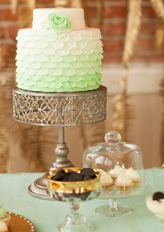 Mint and gold wedding ideas | 100 Layer Cake