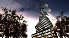 """Este rascacielos diseñado por los arquitectos italianos Paolo Venturella + Angelo Balducci recibe el nombre de """"Twilt Tower"""" porque su diseño surge como una combinación de una torsión (twisted) y una inclinación (tilted).   #Arquitectura #Sustentable"""
