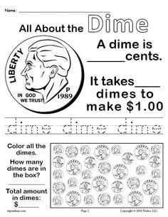 Kindergarten Money Worksheet Free All About Coins 4 Printable Money Worksheets Money Worksheets, First Grade Worksheets, 1st Grade Math, Kindergarten Worksheets, Printable Worksheets, Free Printable, Printables, Kindergarten Rocks, Kindergarten Readiness