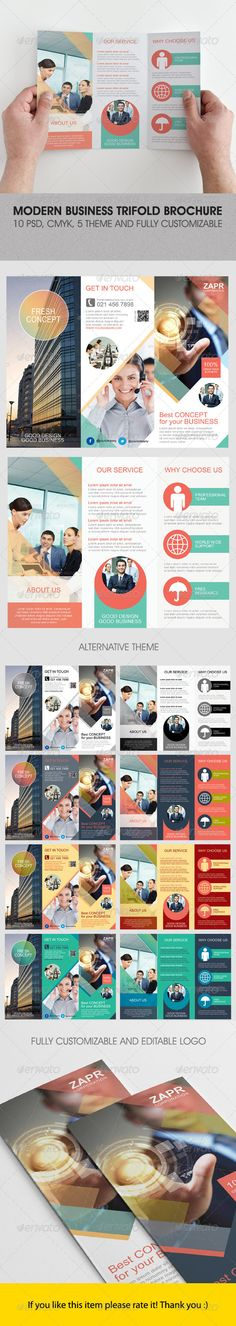 Modern Business Trifold Brochure — Photoshop PSD #yellow #white • Available here → https://graphicriver.net/item/modern-business-trifold-brochure/4823364?ref=pxcr