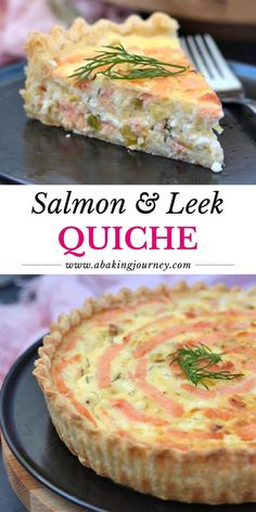 Quiche Pastry, Leek Quiche, Savory Pastry, Savoury Pies, Salmon Dishes, Fish Dishes, Main Dishes, Pastry Recipes, Baking Recipes