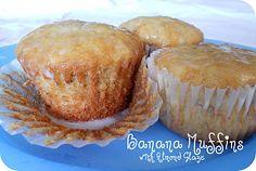 Lion House Banana Bread Muffins with Almond Glaze #Recipe #Sidedish