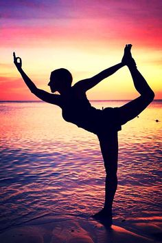 Yoga #asana #Nataraja #sunset
