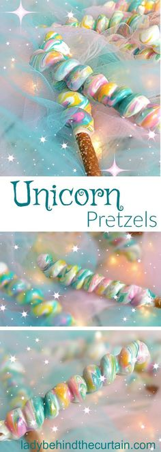 Unicorn desserts for a unicorn party: Unicorn Pretzels Party Unicorn, Unicorn Baby Shower, Unicorn Birthday Parties, 10th Birthday, Birthday Ideas, Cake Birthday, Little Girl Birthday Cakes, Birthday Party Desserts, School Birthday Treats