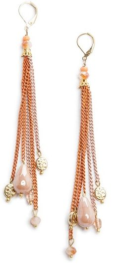 Touch Colored Chains Earrings - Lyst
