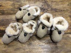 Babies Genuine Sheepskin Shearling Slippers