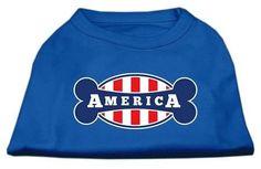 Bonely in America Screen Print Shirt Blue XXL (18)