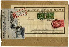 """5000 M. Wartburg nebst 300 M. (2) und 200 M. Ziffern auf portogerechter Auslands-Reco.-Drucksache - 400 g. (8.Gewichtsstufe!) """"BERLIN 8a"""" 4...."""