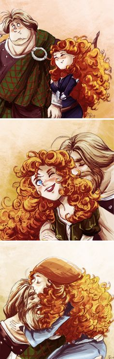 Merida and Not-So-Young MacGuffin by ~monotogne on deviantART still trying to wrap my mind around this ship