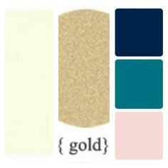 Wedding colour scheme - Ivory Gold Navy Teal Blush