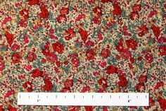 Print Liberty Tana Lawn Cotton Liberty of London Floral Cotton Black Green Pink Red Yellow White