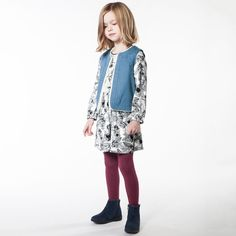 Cute blue cotton waistcoat from Carrement Beau @Childrensalon