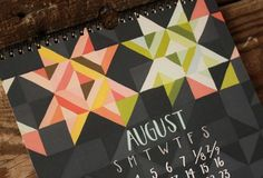 2014 Pieces and Patterns Wall Calendar