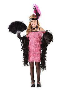 Flapper Girl Costume for Girls | Home pink flapper girls costume