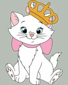 Disney's The Aristocats:) Disney Cats, Disney Cartoons, Baby Disney, Disney Love, Disney Magic, Disney Pixar, Lilo Et Stitch, Image Deco, Marie Cat