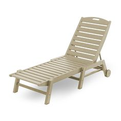 Nautical Wheeled Chaise - Stackable | POLYWOOD | Available at Vermont Woods Studios