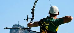 <h5>Alec Potts</h5> <p>Alec Potts prepares to shoot during the first day of the Archery test event for the Rio 2016 Olympic Games at Sapucai Sambodrome..</p> © Getty Images