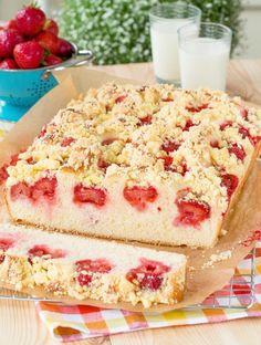 Ciasto drożdżowe z truskawkami #recipe #panitereska #truskawki