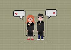In Love - Harry and Ginny cross stitch pattern by avatarswish.deviantart.com on @DeviantArt