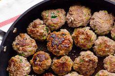 Clean Eating - Turkey & Zucchini Meatballs with Green Onion and Cumin - (Jerusalem Cookbook)