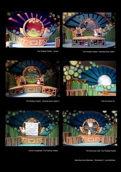 Laura McEwen – Set design storyboard for Polka Theatre's Moominsummer Madness