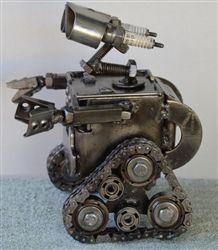 Wall-E sculpture, hand made from recycled scrap metal, Scrap Metal Art