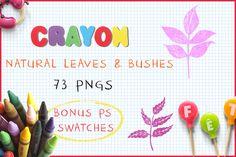 Download Crayon Natural Leaves and Bushes @creativework247