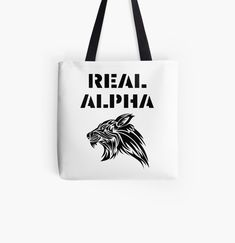 'Real Alpha - pack leader' Tote Bag by RIVEofficial Cotton Tote Bags, Reusable Tote Bags, Shopping Bag, Online Shopping, Alpha Pack, Pin Pin, My Portfolio, Unique Gifts, Custom Design