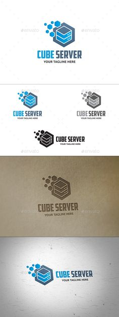 Cube Server Logo Template Vector EPS, AI. Download here: http://graphicriver.net/item/cube-server-logo/13595969?ref=ksioks