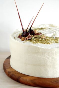 Carrot Cake with Maple Cream Cheese Frosting..totally sinfully delicious...  I use the food processor to finely grate the carrots..saves your fingers...  recipe here :     http://rasamalaysia.com/carrot-cake-recipe/2/
