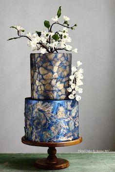 MIXED MEDIA ART WEDDING CAKE - Cake by Jessica MV