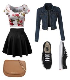"""""""Untitled #84"""" by aero1blue on Polyvore featuring LE3NO, Vans, MICHAEL Michael Kors, women's clothing, women's fashion, women, female, woman, misses and juniors"""