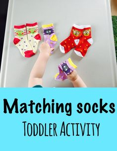 Matching socks addresses visual perceptual skills including visual discrimination, visual memory, figure ground, in addition, rolling paired socks together can address bilateral integration, fine motor, eye-hand coordination, and motor planning.