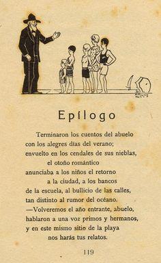 "Epílogo del libro ""Contando cuentos"" de Angélica Palma. Ilustración de Pedro Antequera Azpiri."