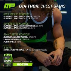 MusclePharm | 614 Thor: Chest Workout