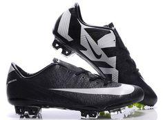 Nike Mercurial Vapor Superfly III Safari Soccer Cleats Black White