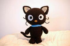 Chococat Sanrio Character (12cm tall) - Free Amigurumi Pattern here: http://sabcrochet.blogspot.nl/p/crochet-pattern-chococat.html