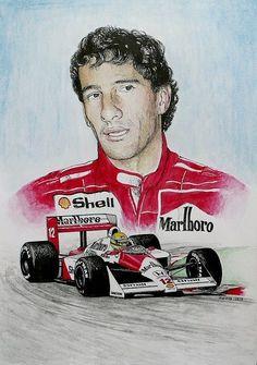 Ayrton Senna Tribute by machoart on DeviantArt F1 Wallpaper Hd, Formula 1, Jochen Rindt, Car Prints, Ferrari, Michael Schumacher, Red Bull Racing, Automobile, Car Drawings