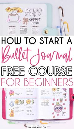 Looking for tips on how to start a Bullet Journal? This little course is just for you! In ten days I'll share with you all you need to know and help you set up a brand new Bullet Journal! Let's embark on this adventure together! Get daily lessons on how to create basic Bullet Journal spreads, free printables, and tons of inspirations. Sign up and let's start your Bullet Journal today! #mashaplan #bulletjournla #howtobulletjournal #bulletjournalbasics #bujo #bujoideas